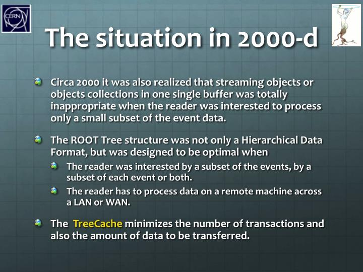 The situation in 2000-d