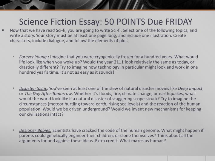 Science Fiction Essay: