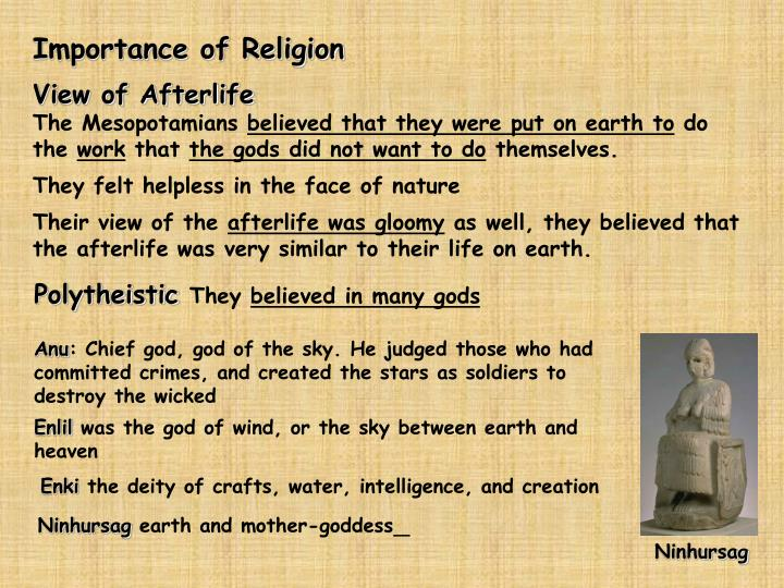 Importance of Religion