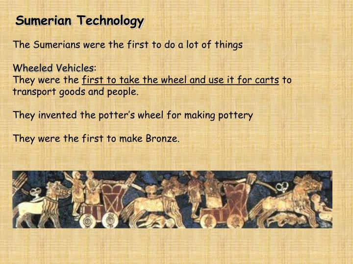 Sumerian Technology