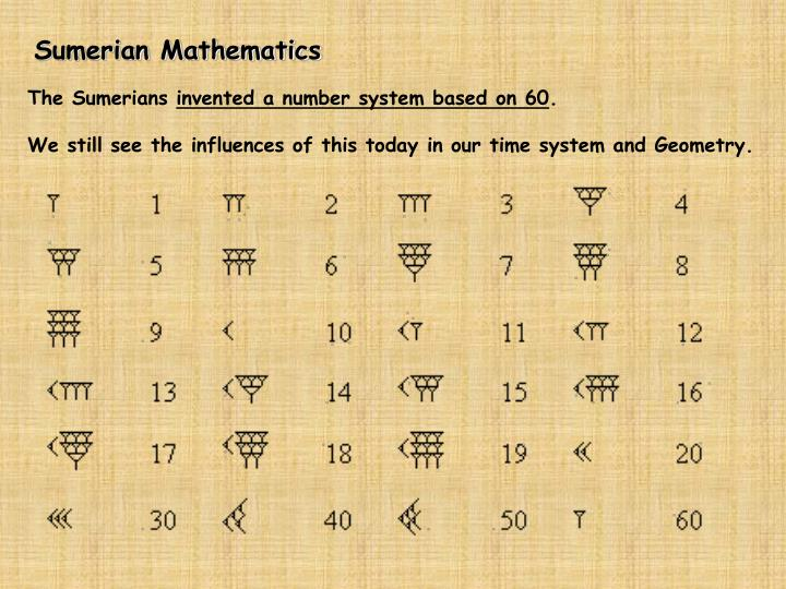 Sumerian Mathematics