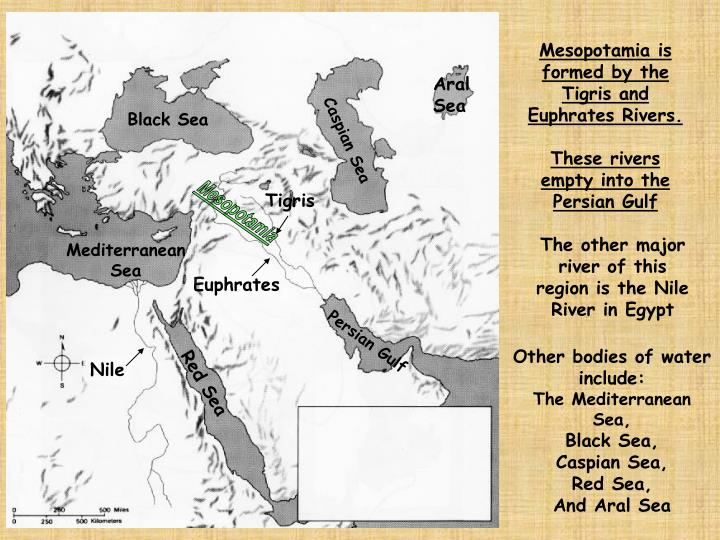 Mesopotamia is formed by the Tigris and Euphrates Rivers.