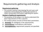 requirements gathering and analysis