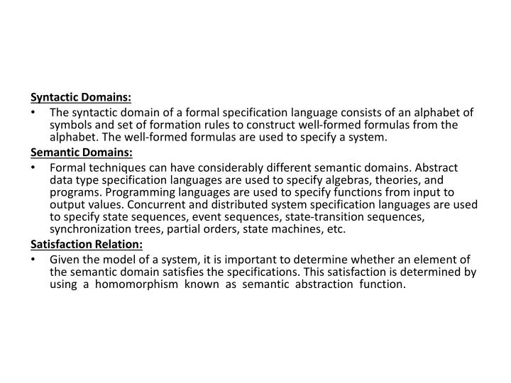 Syntactic Domains:
