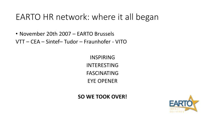 Earto hr network w here it all began