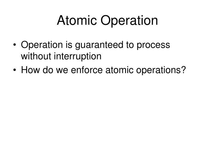 Atomic Operation