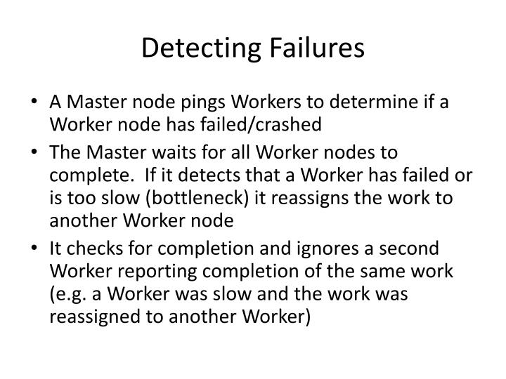 Detecting Failures