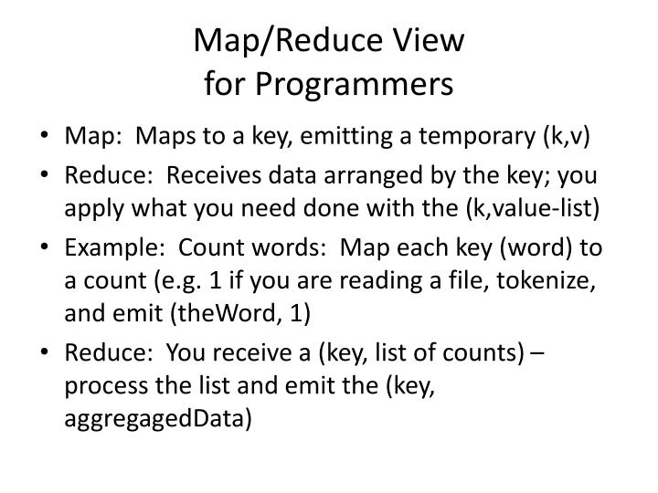 Map/Reduce View