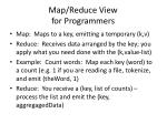 map reduce view for programmers