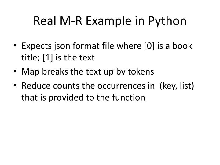 Real M-R Example in Python