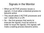signals in the monitor