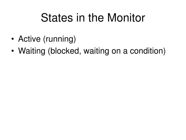 States in the Monitor