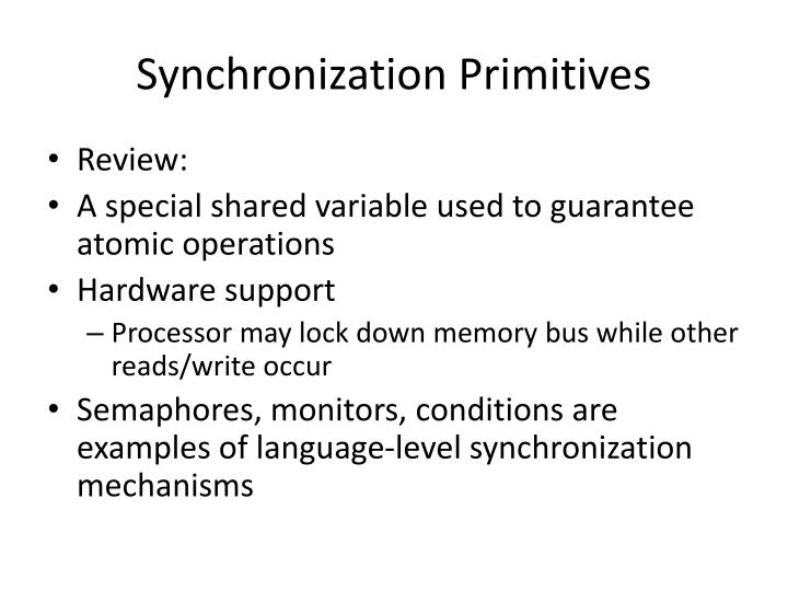 Synchronization Primitives