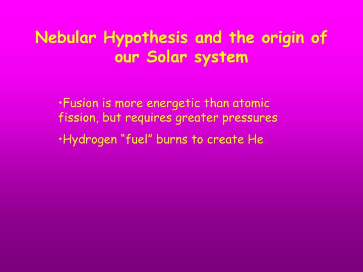 PPT - Solar System History Ch 9 PowerPoint Presentation ...