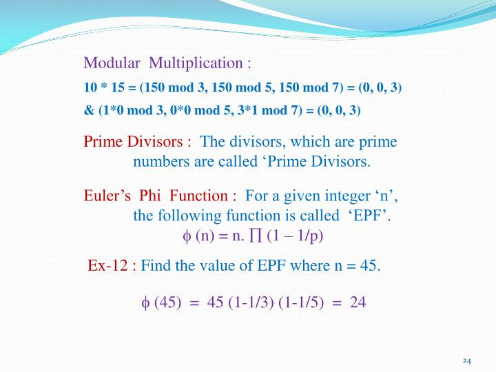 Modular  Multiplication :