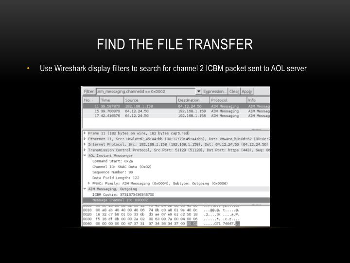 Find the file transfer