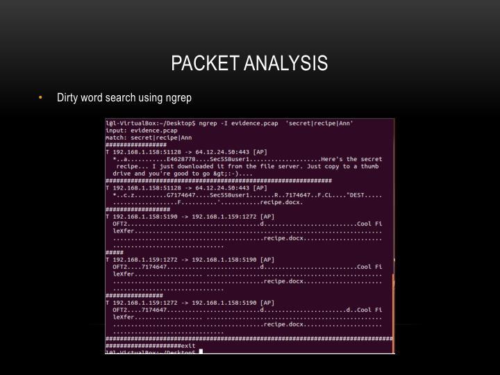 Packet analysis