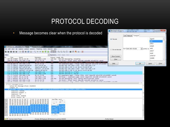 Protocol decoding