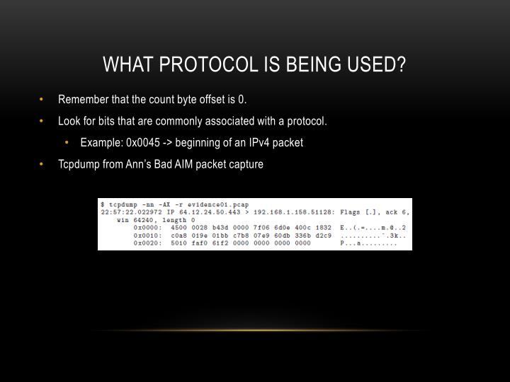 What protocol is being used?