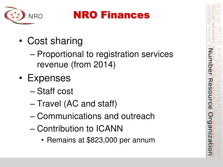 NRO Finances