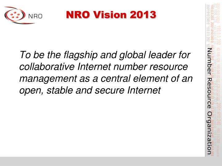 NRO Vision 2013