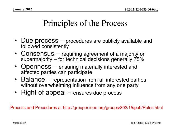 Due process –