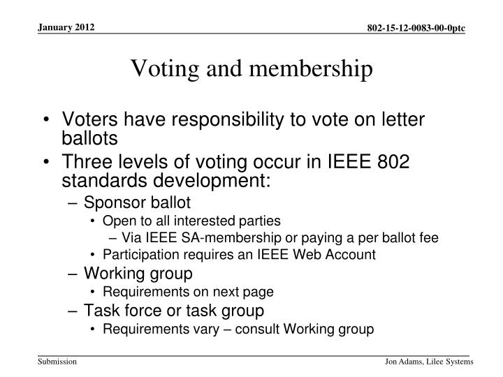 Voters have responsibility to vote on letter ballots