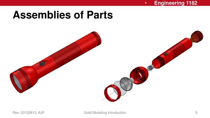 Assemblies of Parts