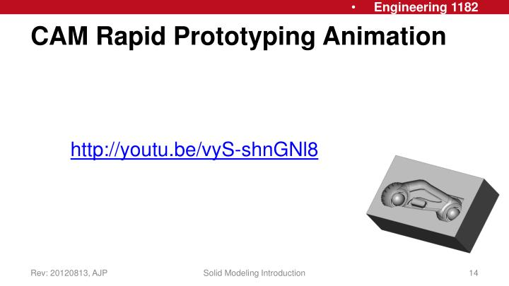 CAM Rapid Prototyping Animation