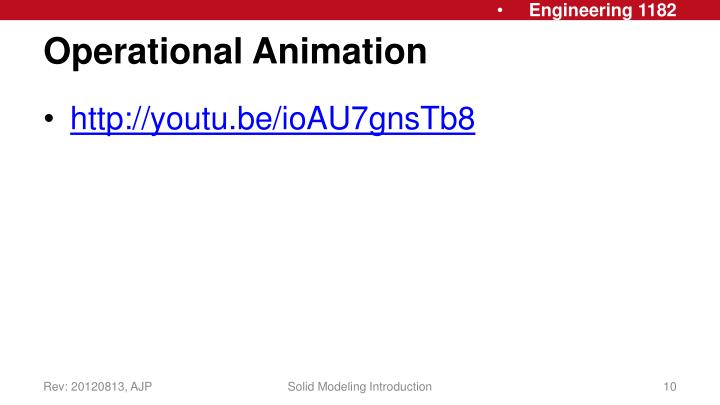Operational Animation