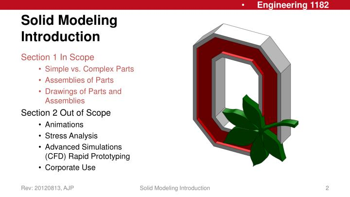 Solid modeling introduction