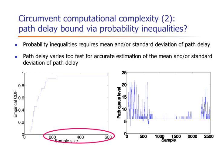 Circumvent computational complexity (2):