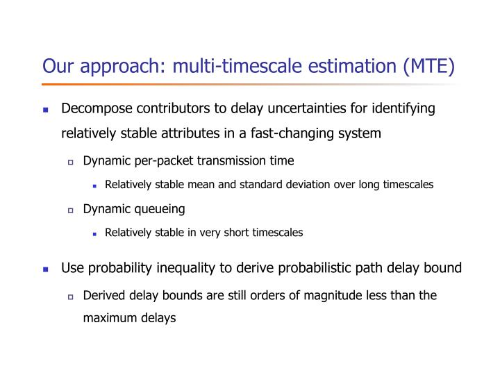 Our approach: multi-timescale estimation (MTE)