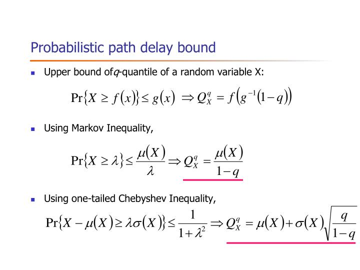 Probabilistic path delay bound