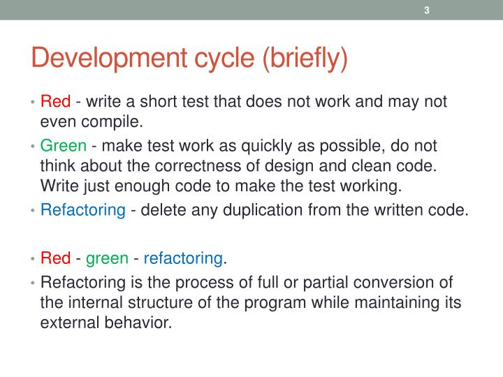 Development cycle briefly