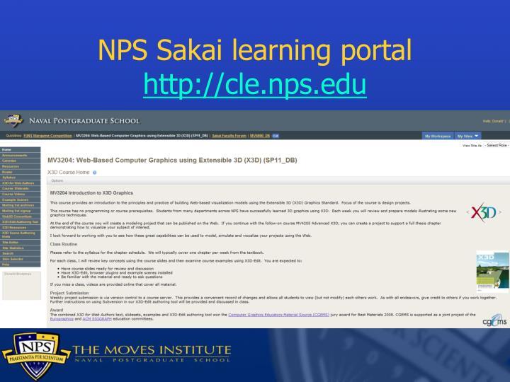 NPS Sakai learning portal