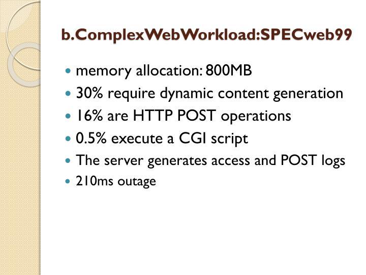 b.ComplexWebWorkload:SPECweb99
