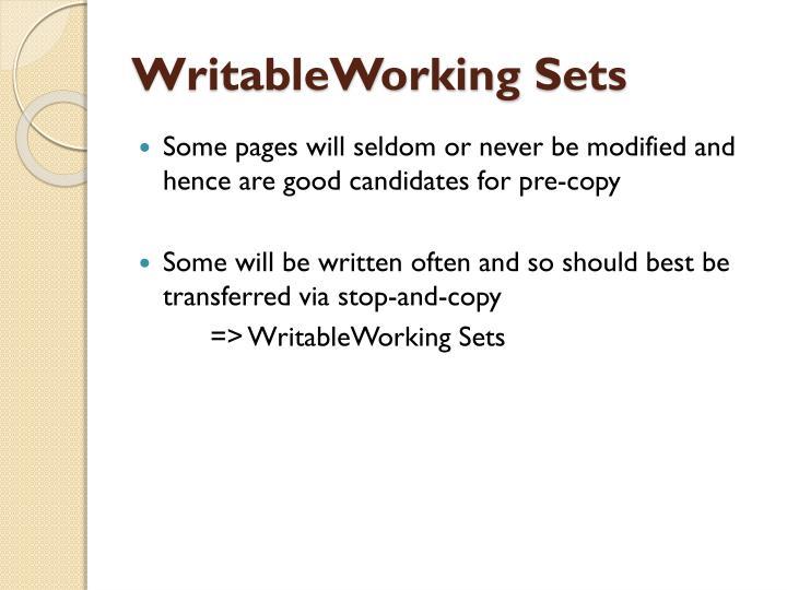 WritableWorking