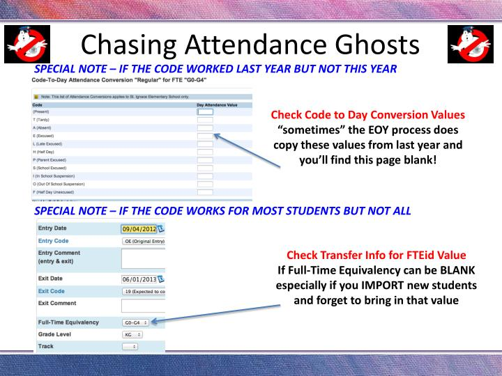 Chasing Attendance Ghosts