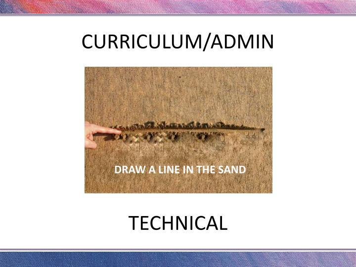 CURRICULUM/ADMIN
