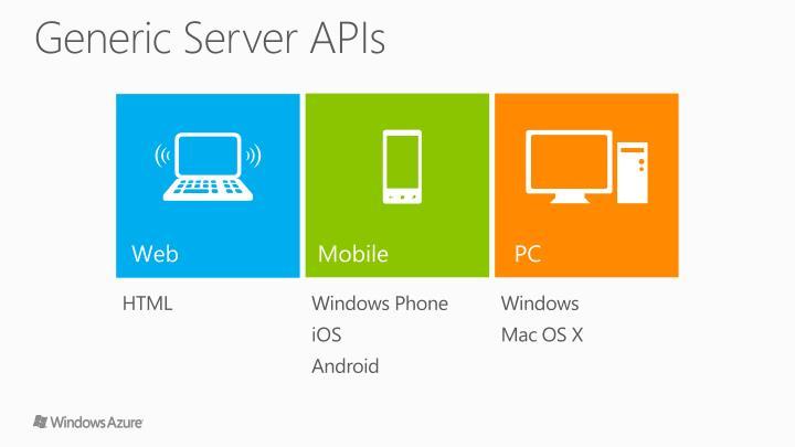 Generic Server APIs