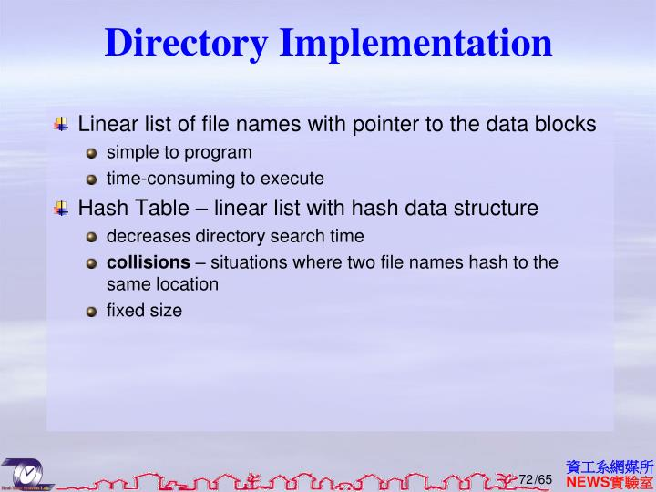 Directory Implementation