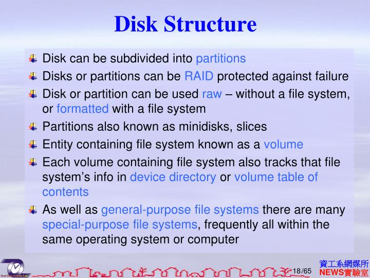 Disk Structure