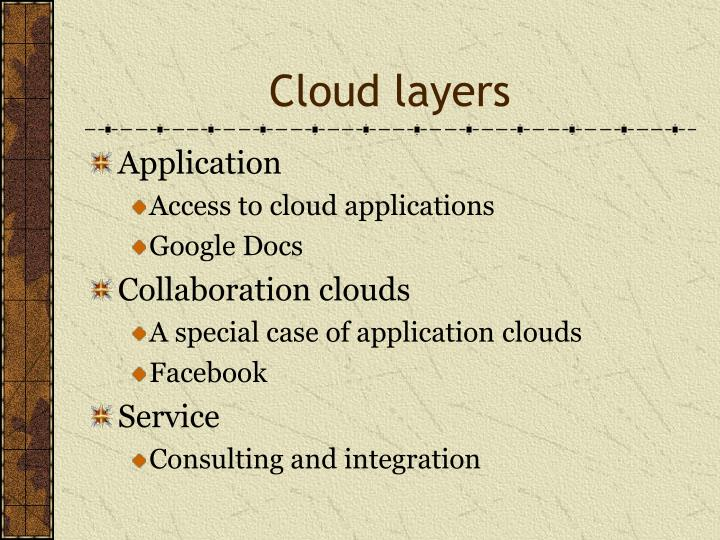 Cloud layers