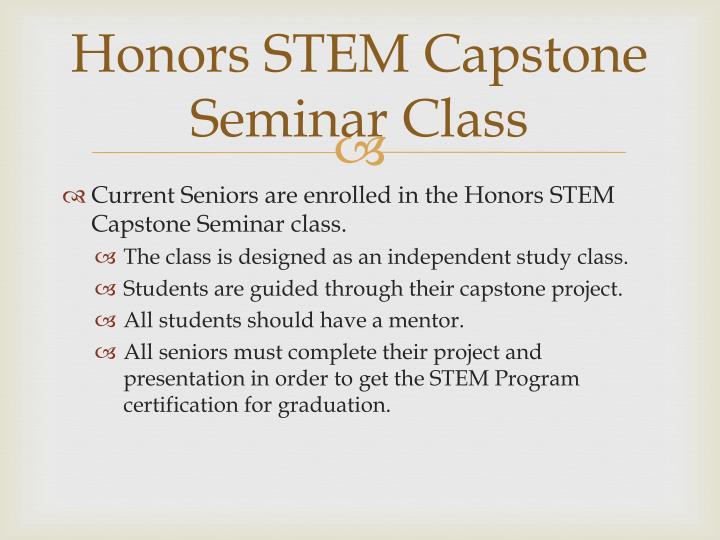 Honors STEM Capstone Seminar Class