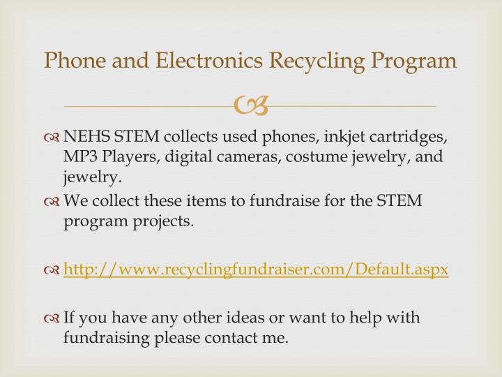 Phone and Electronics Recycling Program
