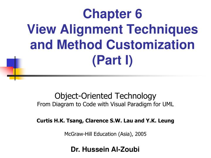 Chapter 6 view alignment techniques and method customization part i
