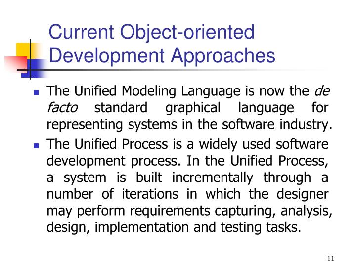 Current Object-oriented Development Approaches
