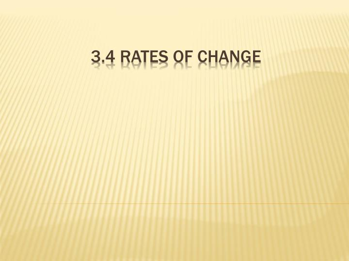 3 4 rates of change