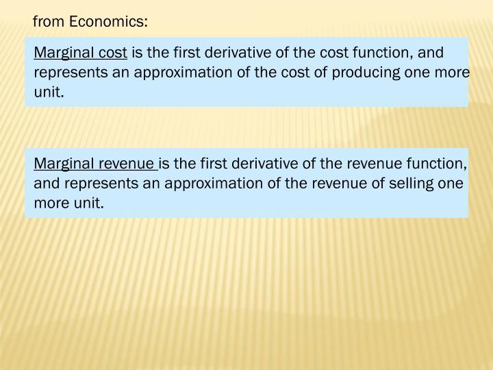from Economics: